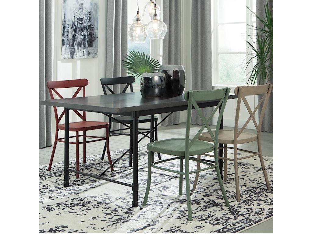 Signature Design by Ashley Minnona5 Piece Rectangular Table Set