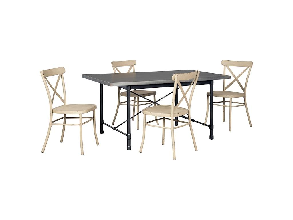 Signature Design by Ashley Minnona5 Piece Rectangular Dining Set