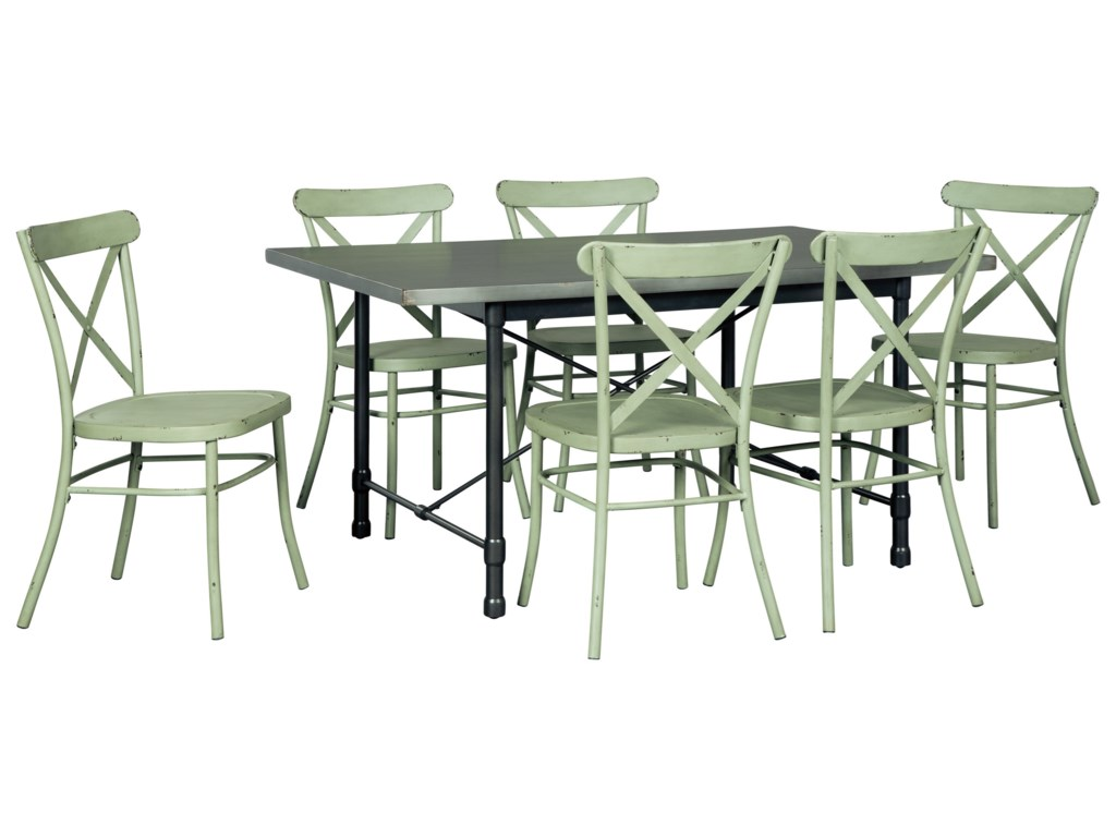Signature Design by Ashley Minnona7 Piece Rectangular Dining Set