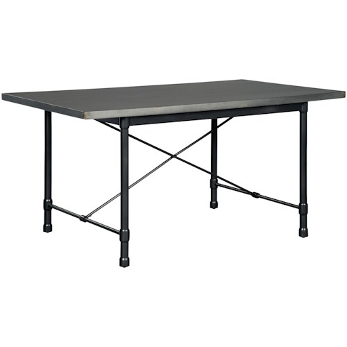 Signature Design by Ashley Minnona Industrial Rectangular Dining Room Table