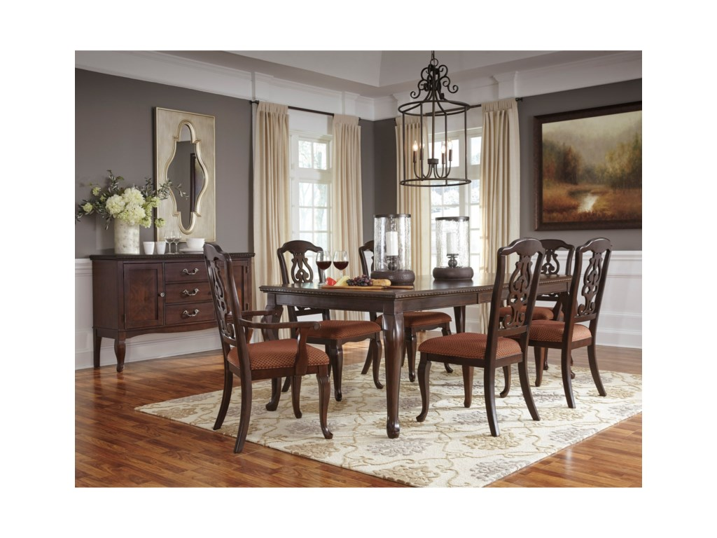 Signature Design by Ashley Gladdenville Formal Dining Room Group ...