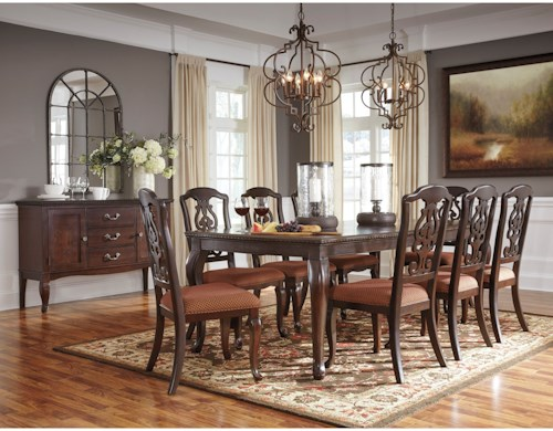 Signature Design by Ashley Gladdenville Formal Dining Room Group