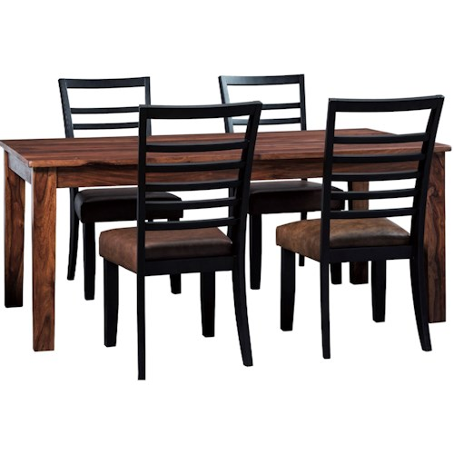 Signature Design by Ashley Manishore Rustic 5-Piece Table & Chair Set