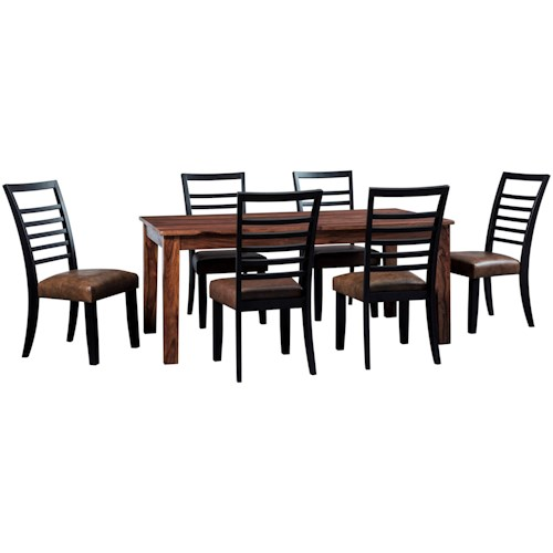 Signature Design by Ashley Manishore Rustic 7-Piece Table & Chair Set