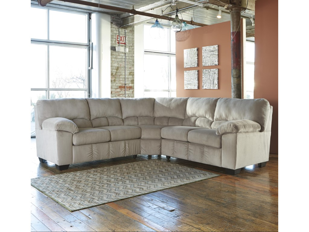 Dawn casual contemporary corner sectional
