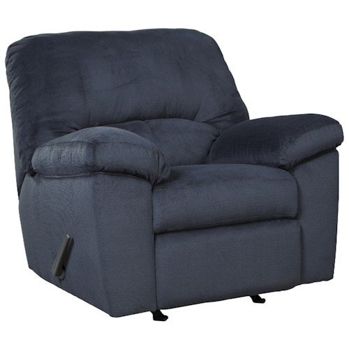 Signature Design by Ashley Dusk Casual Contemporary Rocker Recliner
