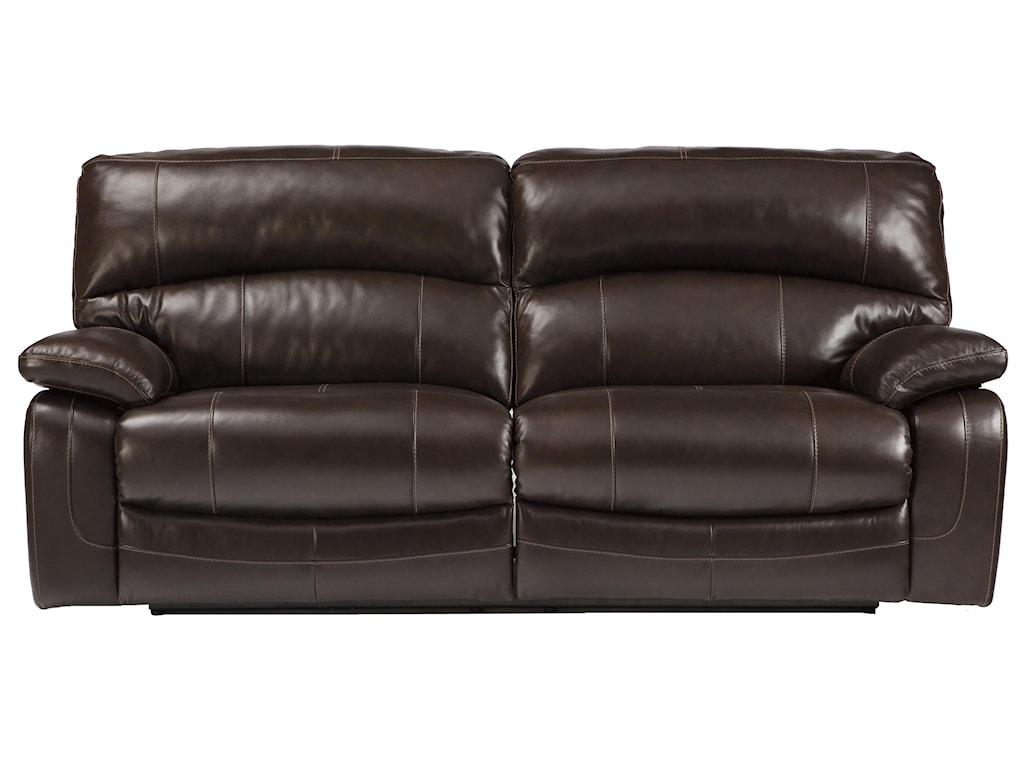 Signature Design by Ashley Damacio - Dark Brown2 Seat Reclining Power Sofa