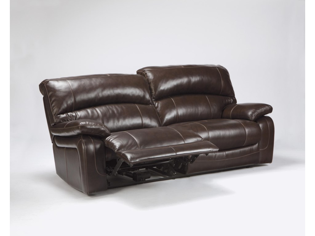 Signature Design by Ashley Damacio - Dark Brown2 Seat Reclining Power Sofa
