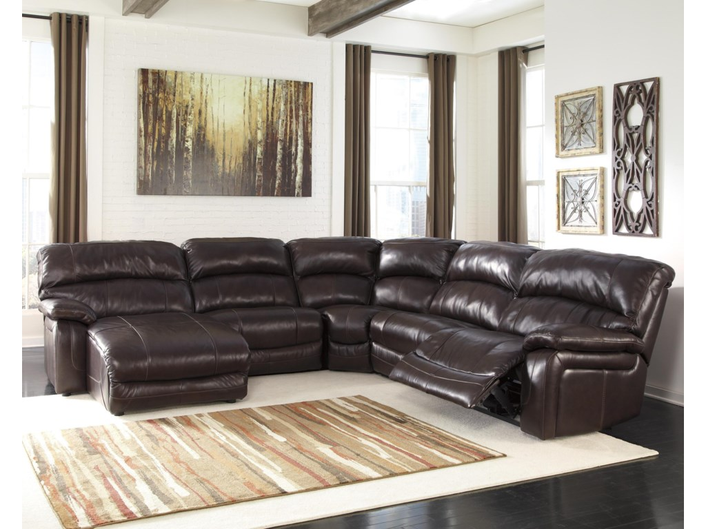 Denali Reclining Sectional With Left Press Back Chaise By Signature Design By Ashley At John V Schultz Furniture