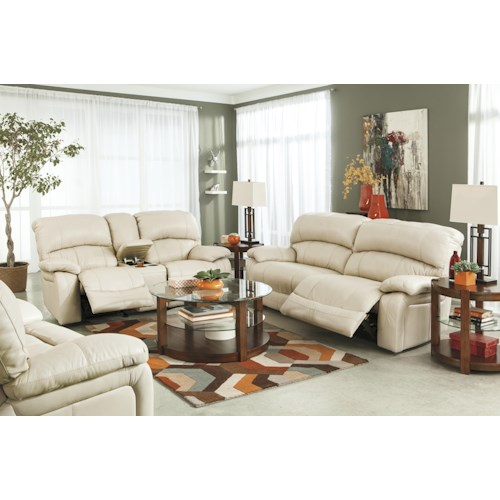 Signature Design by Ashley Damacio - Cream Reclining Living Room Group