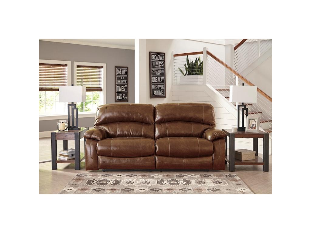 Signature Design by Ashley Damacio - Harness2 Seat Reclining Power Sofa
