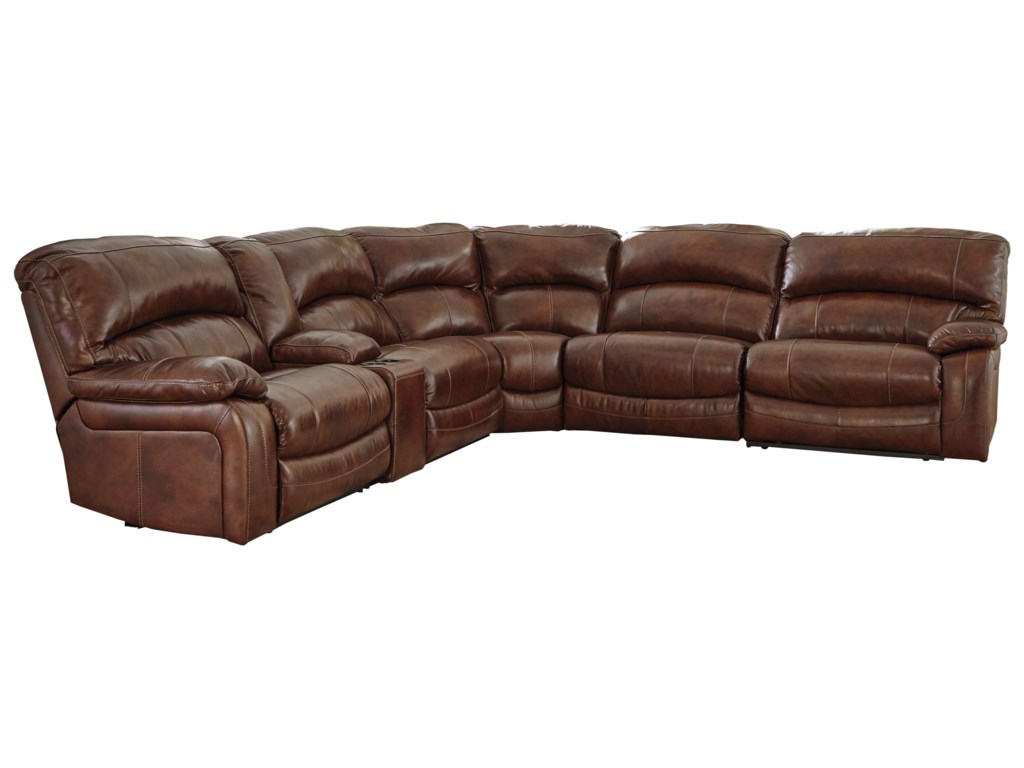 Signature Design by Ashley Damacio - HarnessPower Reclining Sectional with Console