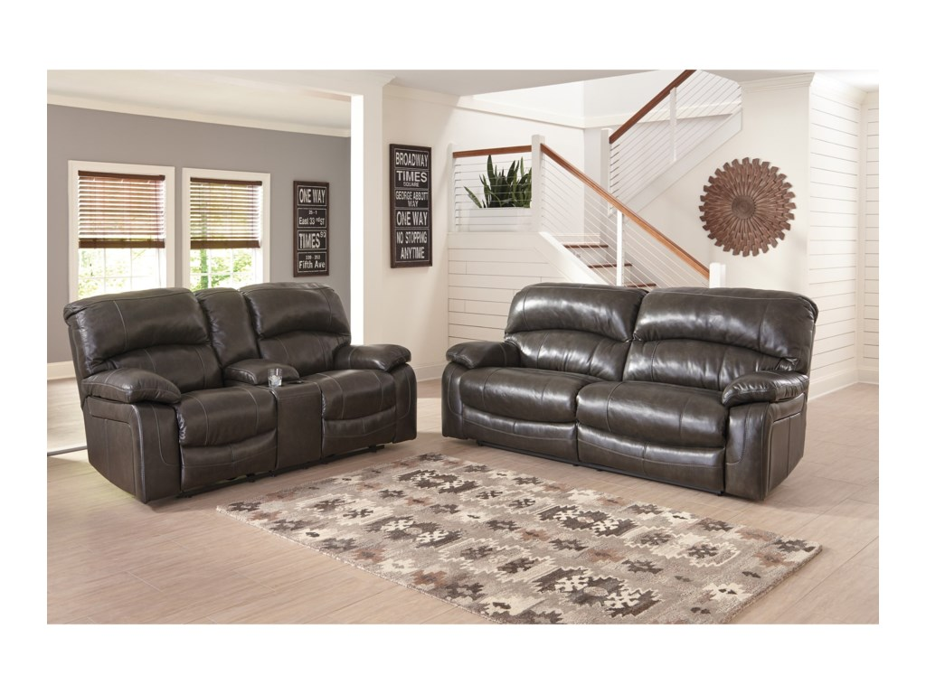 Signature Design by Ashley Damacio - MetalReclining Living Room Group