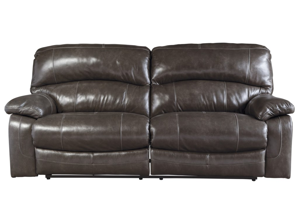 Ashley (Signature Design) Damacio - Metal2 Seat Reclining Power Sofa