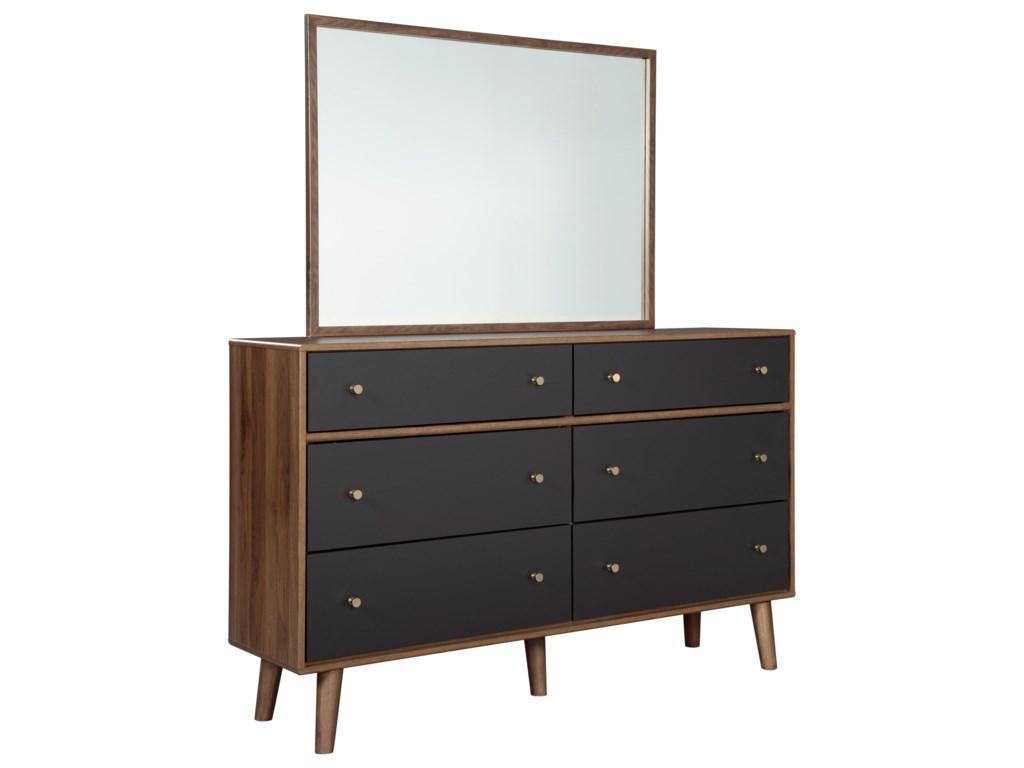 Rooms Collection Three DanestonDresser and Mirror Set