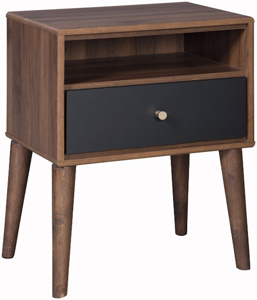Signature Design by Ashley Daneston 1 Drawer Night Stand with USB Port