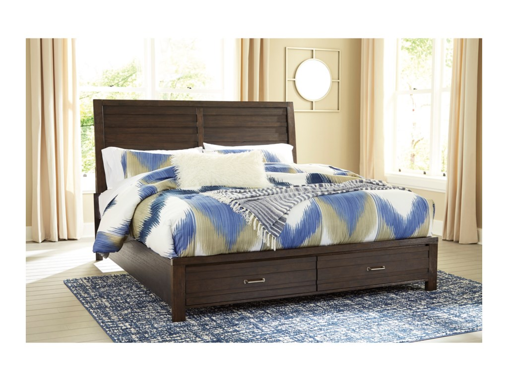 Signature Design by Ashley DarbryKing Storage Bed