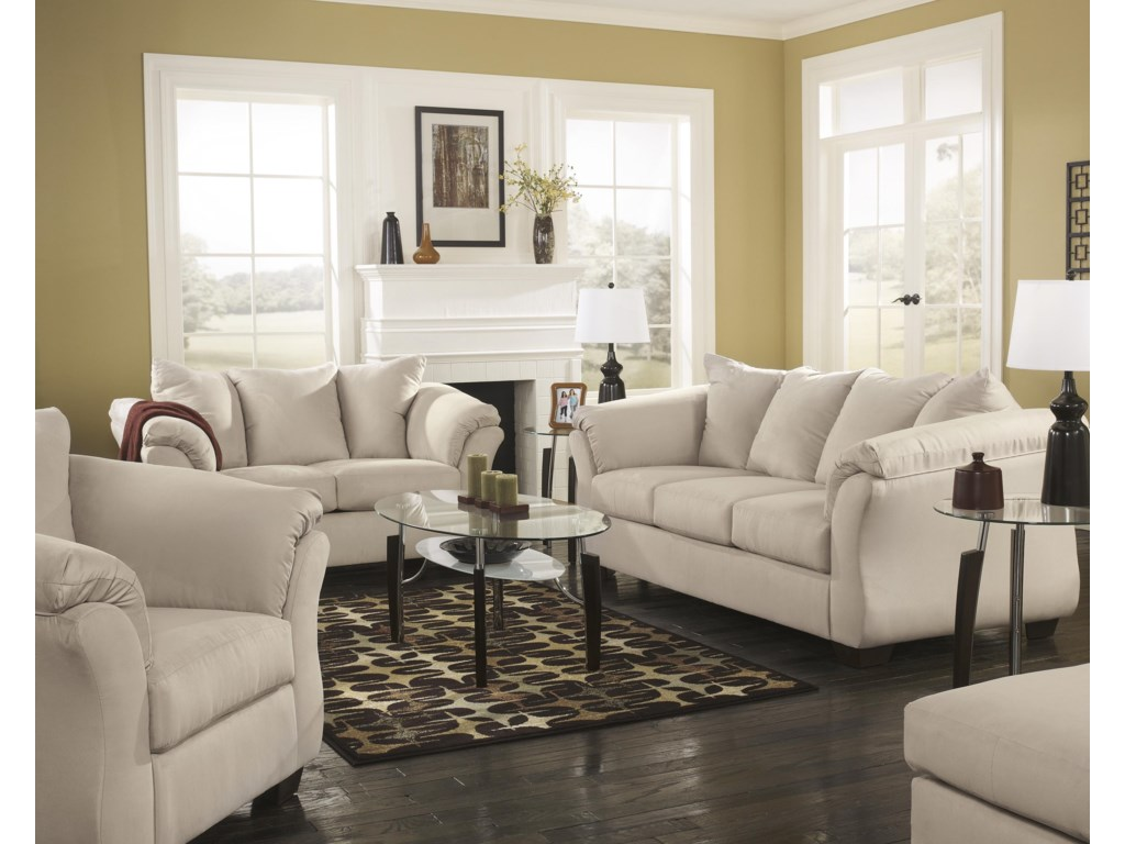 Signature Design by Ashley Darcy - StoneStationary Living Room Group