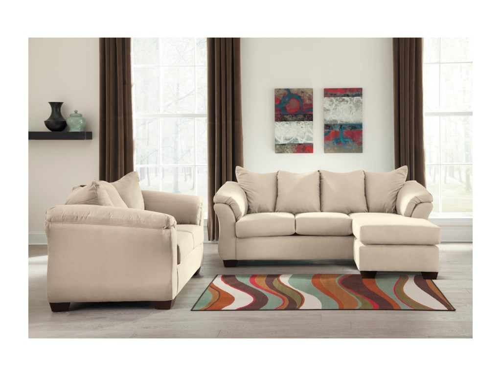 Signature Design by Ashley Darcy - Stone Stationary Living Room ...