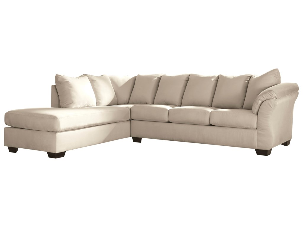 Darcy - Stone Contemporary Sectional Sleeper Sofa with Left Chaise by  Signature Design by Ashley at John V Schultz Furniture