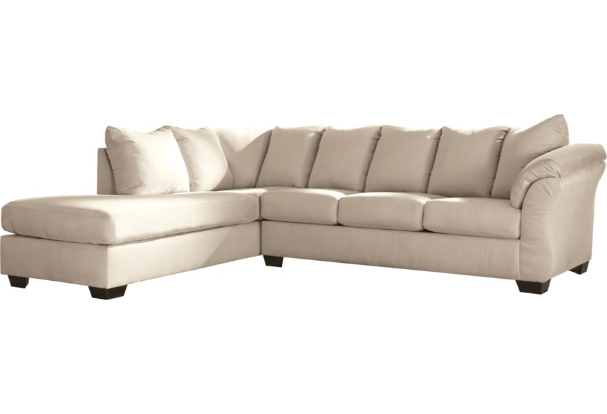 Darcy - Stone Sectional Sleeper Sofa with Chaise