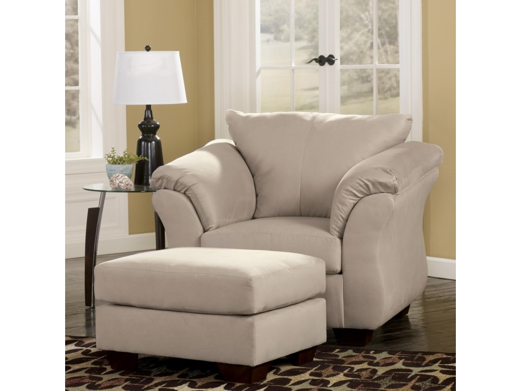 Signature Design by Ashley Darcy - StoneUpholstered Chair and Ottoman