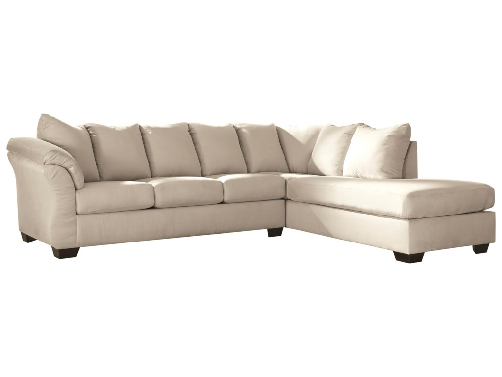 Signature Design by Ashley Darcy - Stone Contemporary Sectional ...