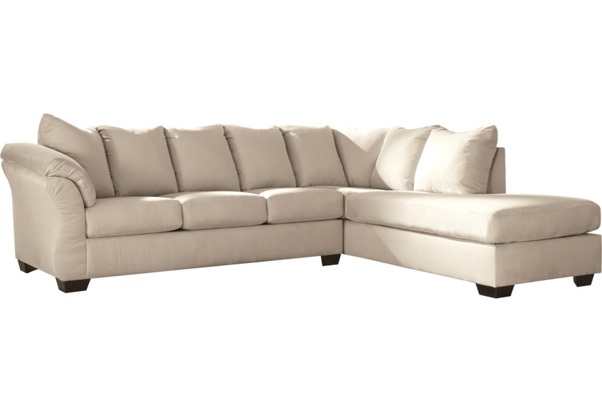 Darcy - Stone Contemporary Sectional Sleeper Sofa with Right Chaise by  Ashley Signature Design at Dunk & Bright Furniture