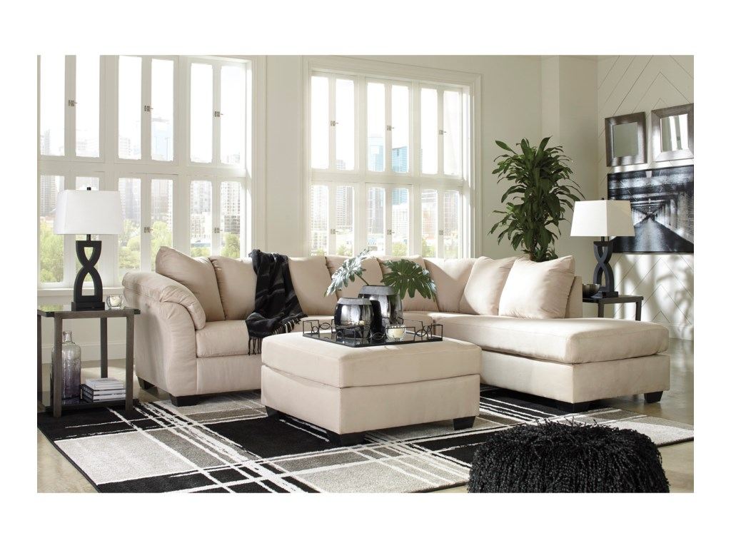 Signature Design by Ashley Darcy - Stone2-Piece Sectional Sofa