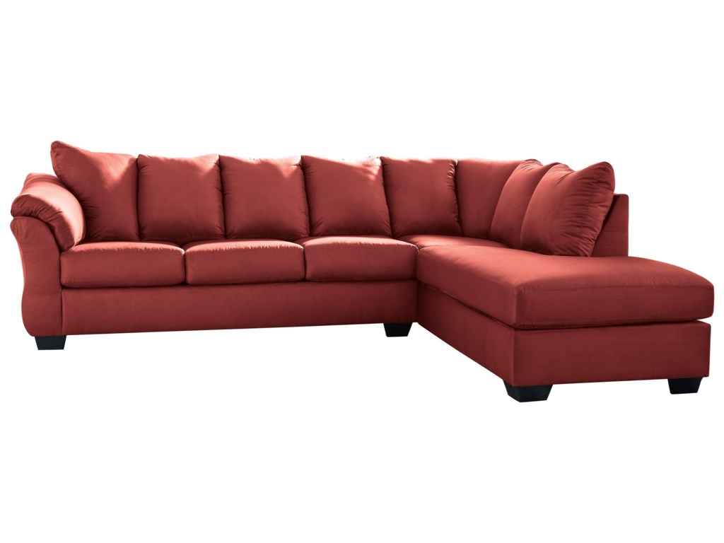 York Salsa Contemporary Sectional Sleeper Sofa with Right Chaise by  Signature Design by Ashley at John V Schultz Furniture