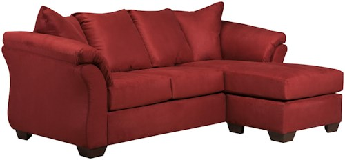 Signature Design by Ashley Darcy - Salsa Contemporary Sofa Chaise with Flared Back Pillows