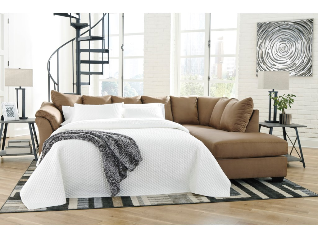 Signature Design by Ashley Darcy - MochaSectional Sleeper Sofa