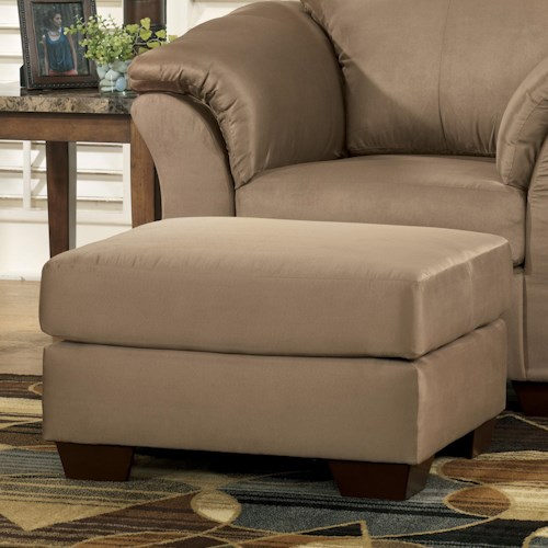 Signature Design by Ashley Darcy - Mocha Contemporary Ottoman with Tapered Legs