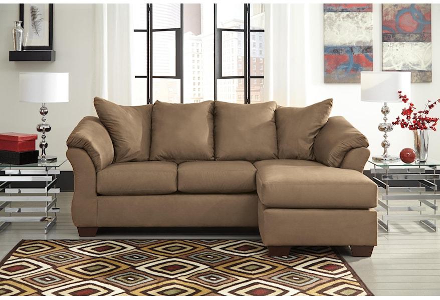 Mocha Contemporary Sofa Chaise