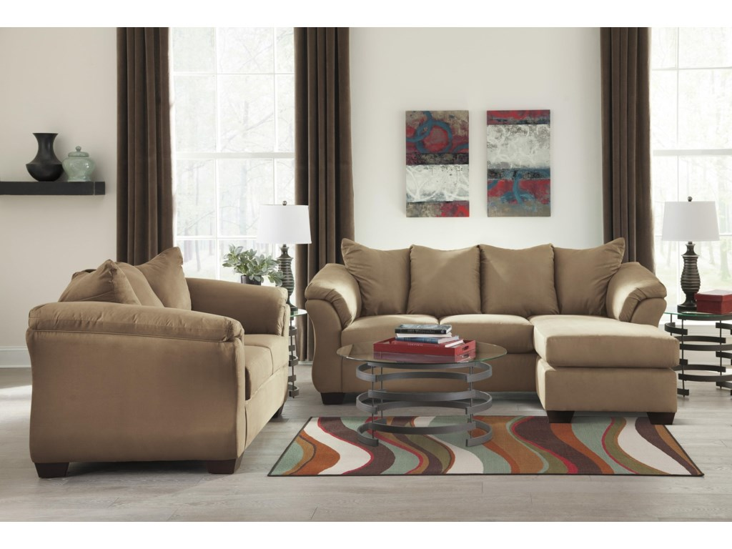 Signature Design by Ashley Darcy - MochaChaise Sofa, Loveseat and Chair Set