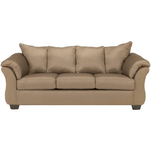 Signature Design by Ashley Darcy - Mocha Contemporary Full Sleeper with Flared Back Pillows