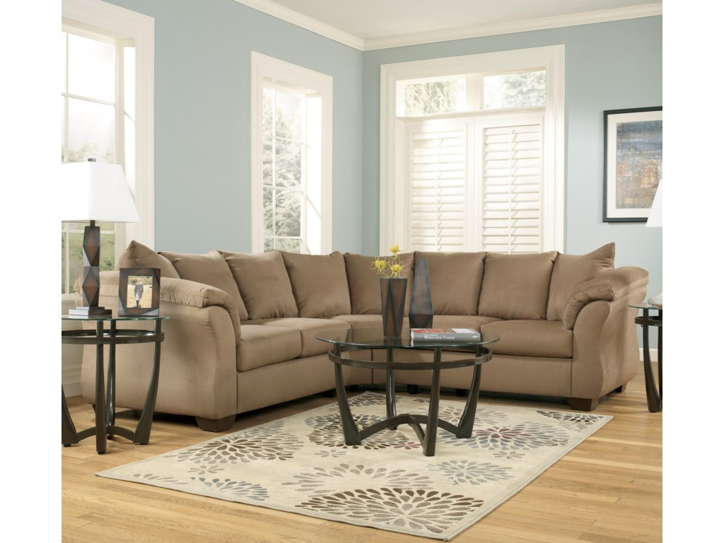 Home Living Room Furniture Sectional Sofas Signature Design By Ashley Darcy Darcy Cafe Living