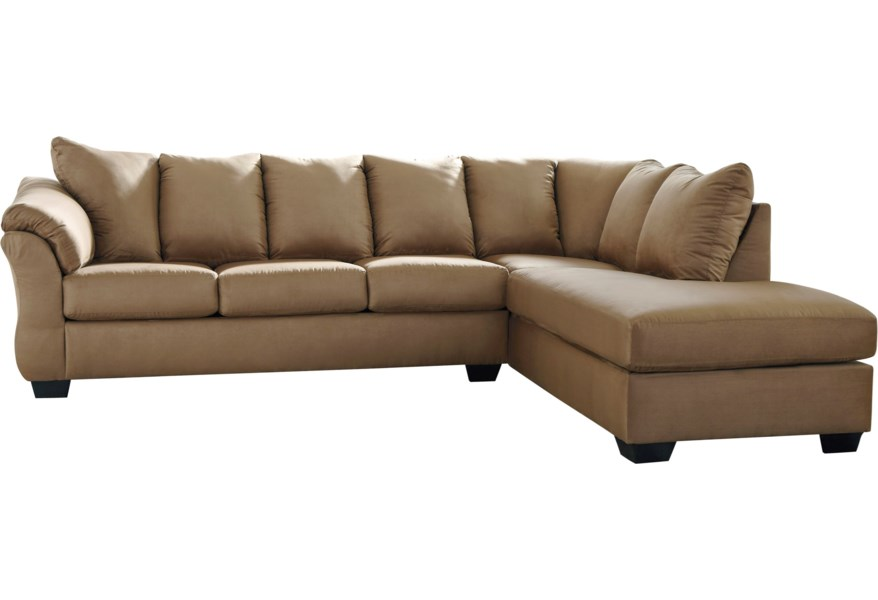 Darcy - Mocha Sectional Sleeper Sofa with Chaise