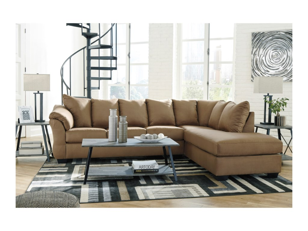 Darcy - Mocha 2-Piece Sectional Sofa
