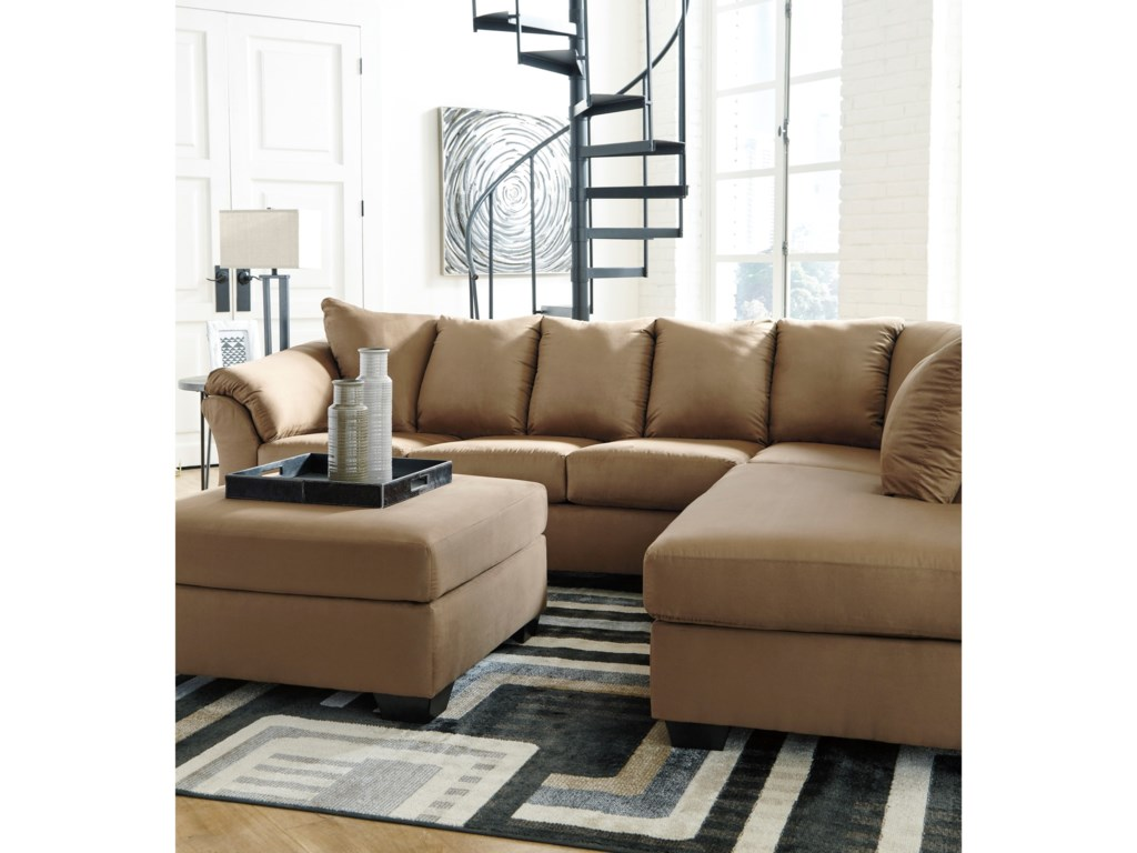 Signature Design by Ashley Darcy - Mocha2-Piece Sectional Sofa