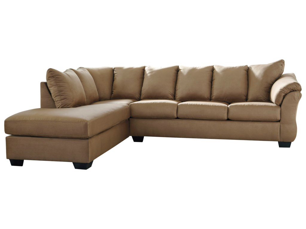 Darcy - Mocha Contemporary 2-Piece Sectional Sofa with Left Chaise by  Signature Design by Ashley at Sam Levitz Furniture