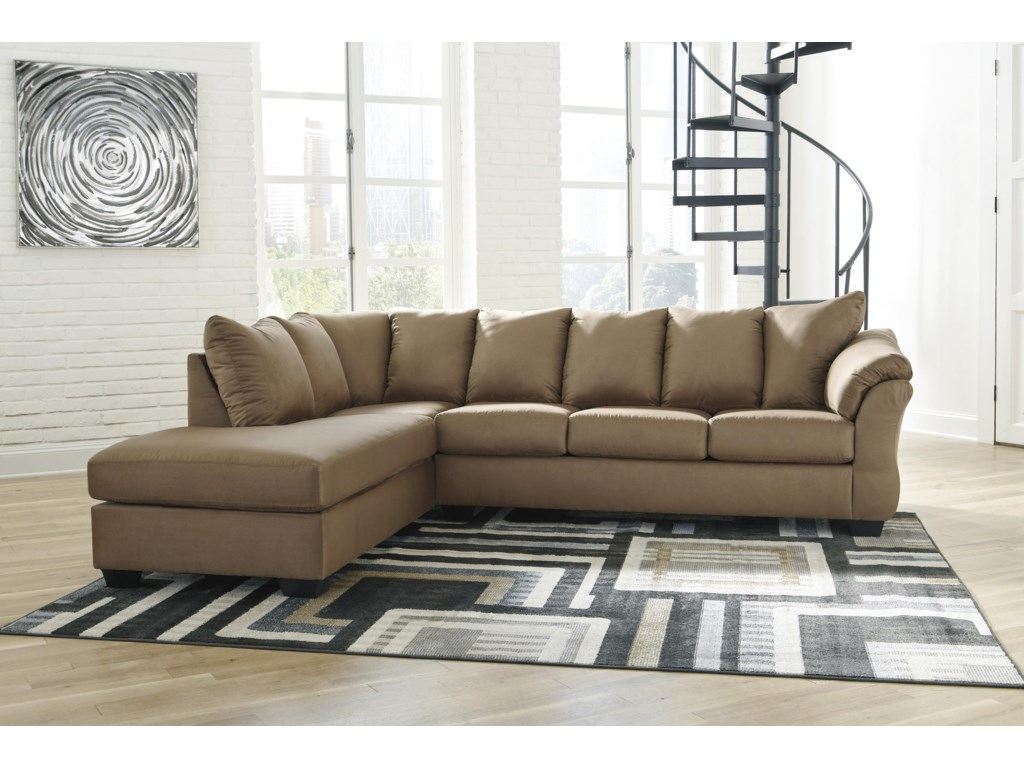 Signature Design by Ashley Darcy - Mocha2 PC Sectional and Recliner Set