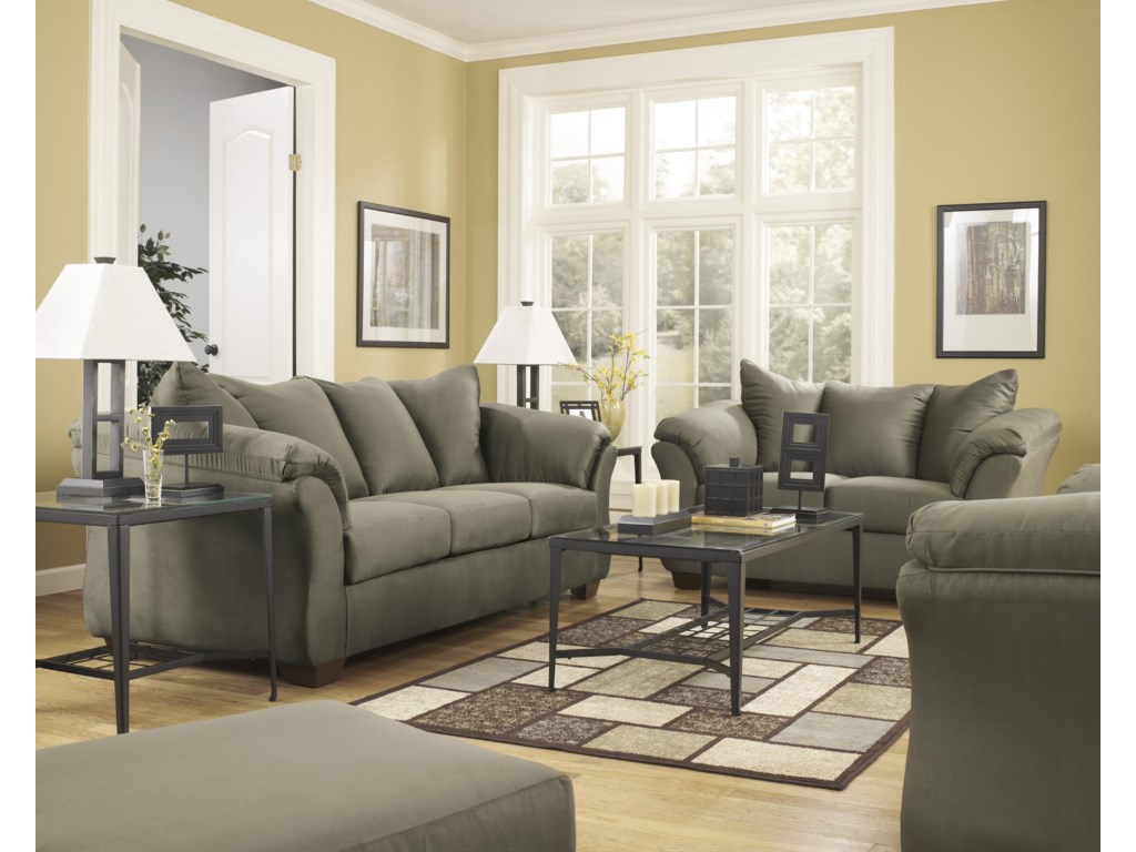 Signature Design by Ashley Darcy - SageStationary Living Room Group