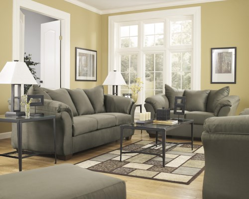 Signature Design by Ashley Darcy - Sage Stationary Living Room Group