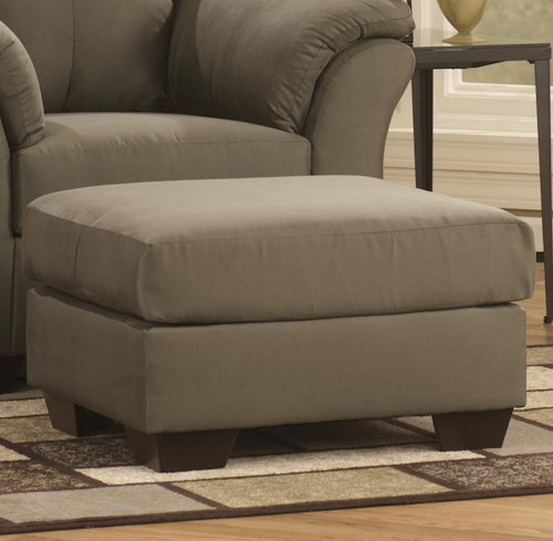 Signature Design by Ashley Darcy - Sage Contemporary Ottoman with Tapered Legs