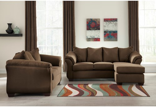 Signature Design by Ashley Darcy - Cafe Stationary Living Room Group