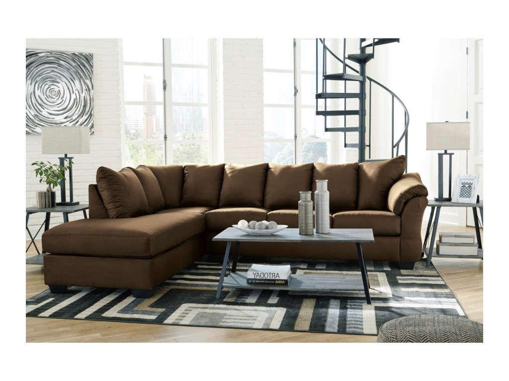 Signature Design by Ashley Darcy - CafeSectional Sleeper Sofa with Chaise