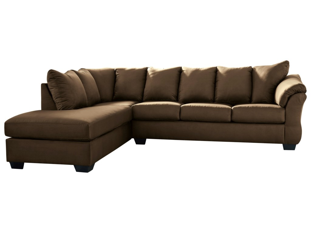 Darcy - Cafe Contemporary 2-Piece Sectional Sofa with Left Chaise by  Signature Design by Ashley at Household Furniture