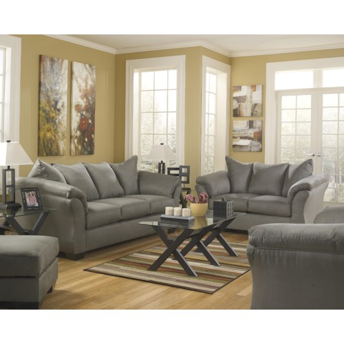 Signature Design by Ashley Darcy - Cobblestone Stationary Living Room Group