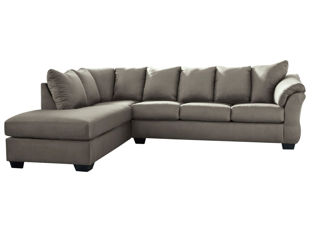 Darcy - Cobblestone Contemporary Sectional Sleeper Sofa with Left Chaise by  Signature Design by Ashley at Royal Furniture